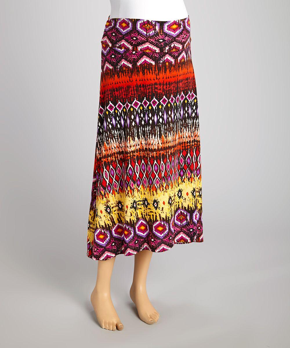 Hot pink maternity maxi dress  Red u Yellow Geometric Maternity Maxi Skirt  Maternity maxi skirts