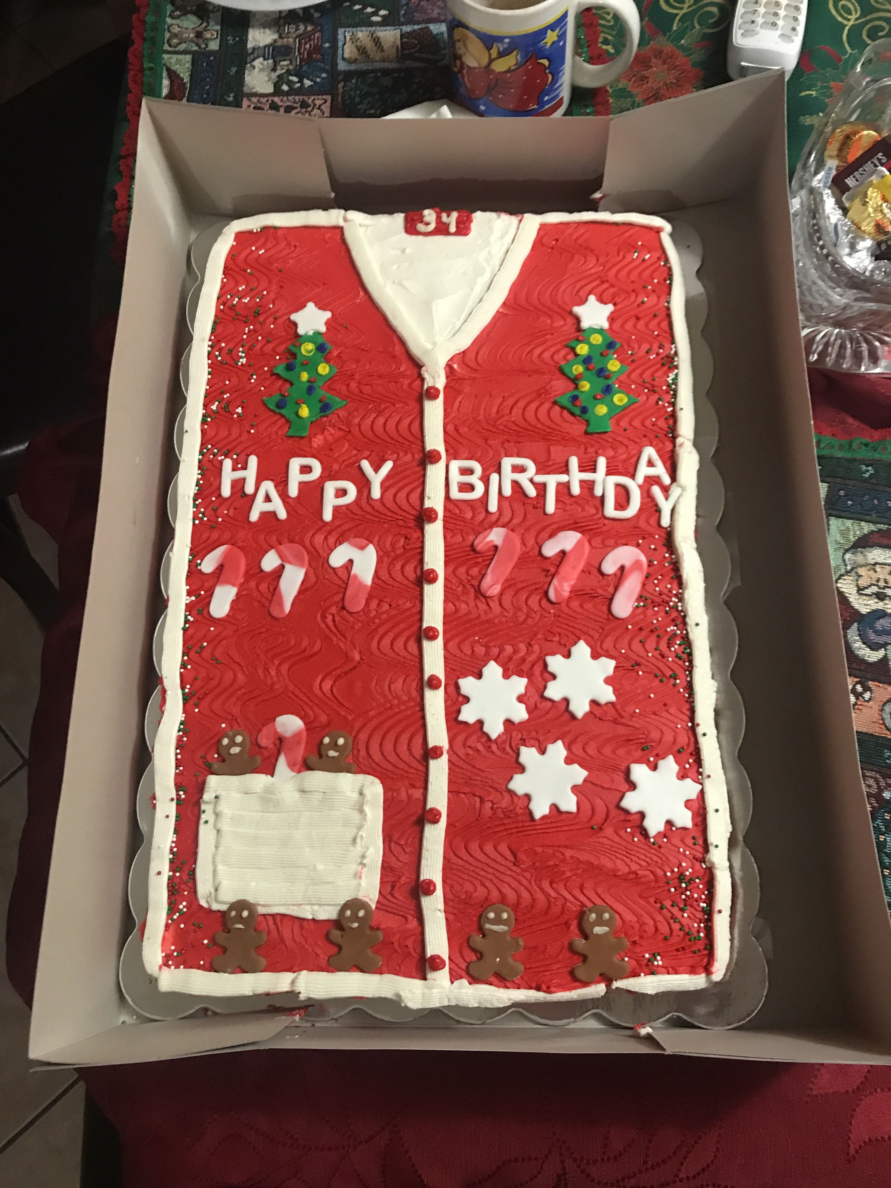 Ugly Christmas Sweater Birthday Cake Dollhouse Sweets Pinterest