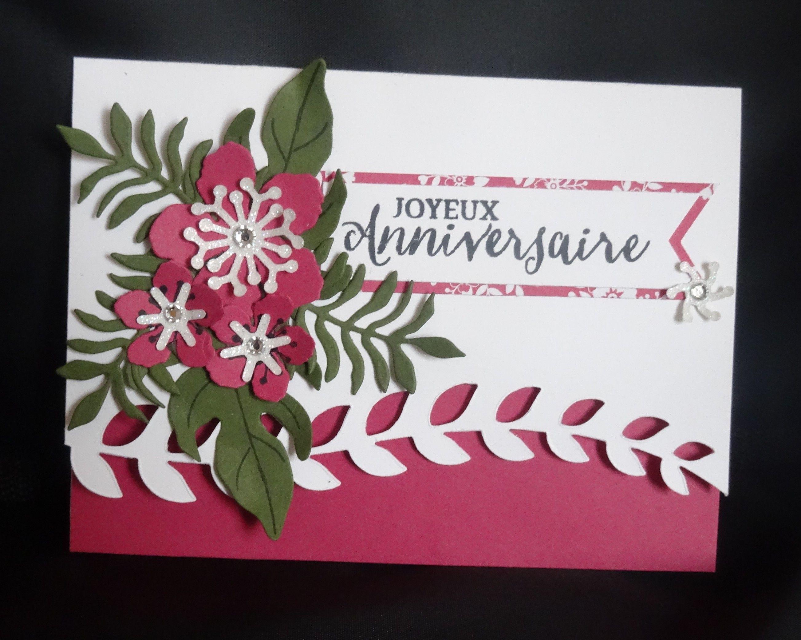 Joyeux Anniversaire Celinestamp Idees De Cartes Carte De Fete Cartes D Anniversaire Faites A La Main