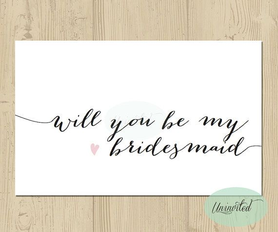 photograph about Bridesmaid Proposal Printable called Printable Bridesmaid Invite - Immediate down load, will your self be