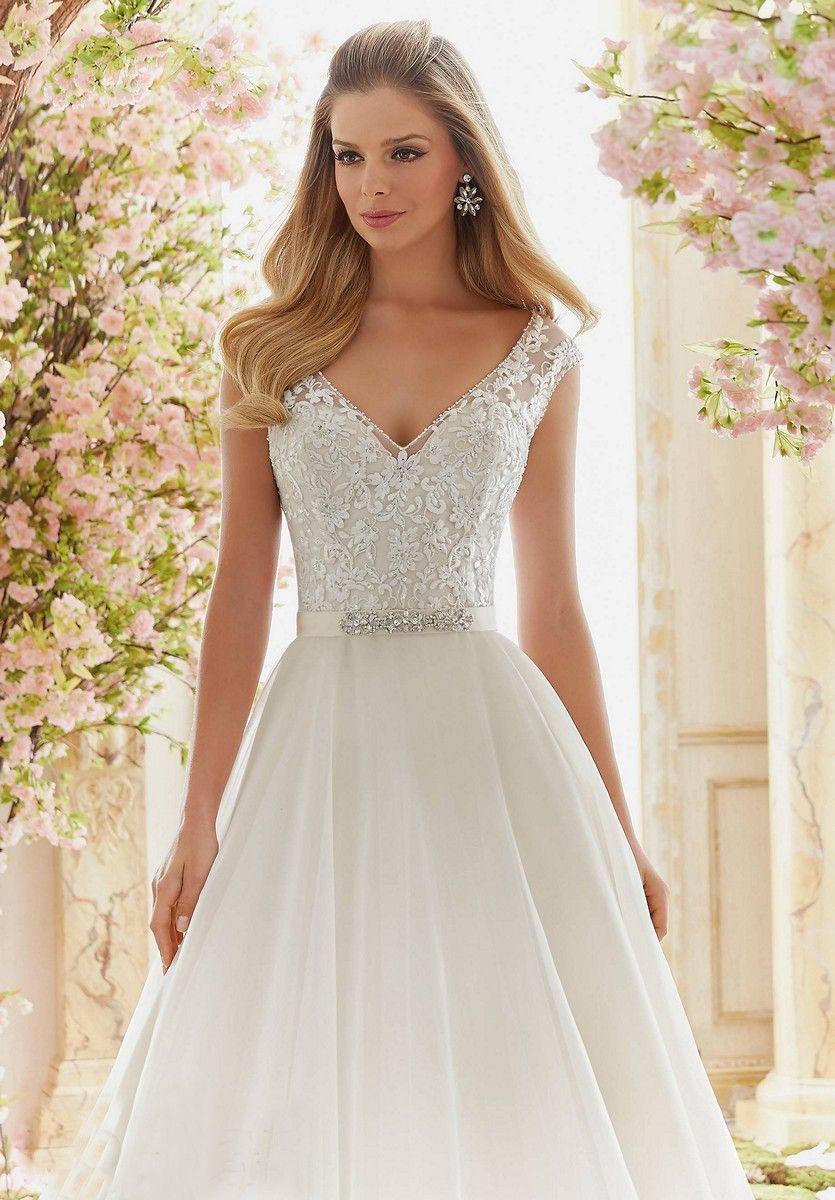 Mori lee voyage wedding dress in organza wedding dresses
