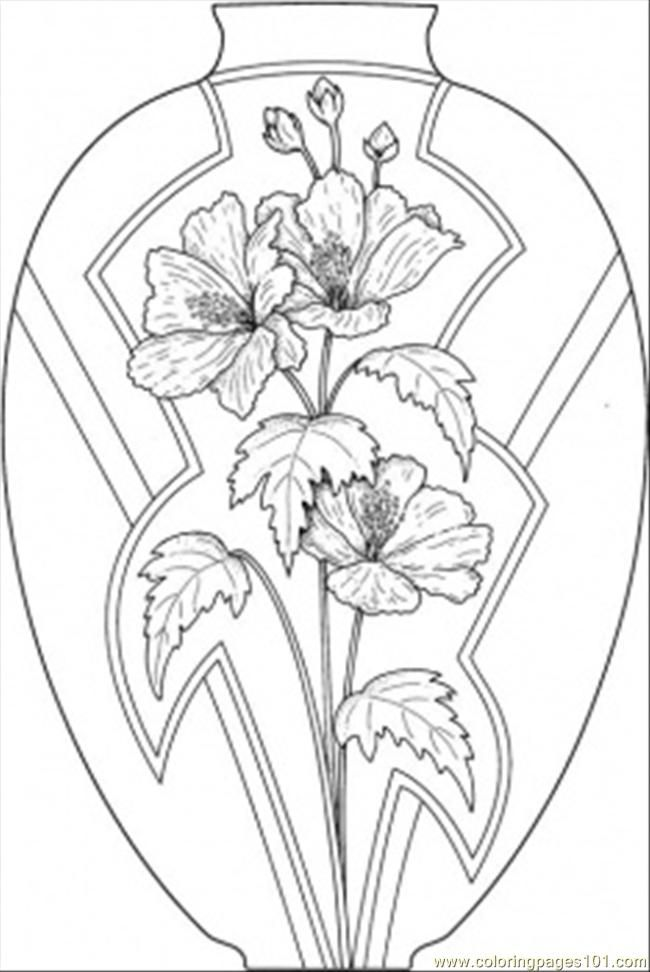 Colouring Pages Of Flowers In Vase : Flower page printable coloring sheets pages vase wild