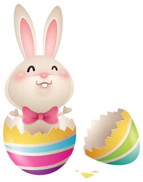 Easter Bunny In Egg Png Clipart Image Image Paques Paques Lapin De Paques