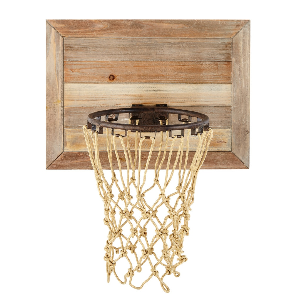Panier de basket mural en sapin maisons du monde boheme en 2019 pinterest parement mural - Panier de basket de bureau ...