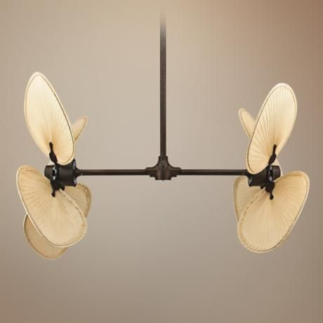 Fanimation palisade rust finish double ceiling fan style 27782 23127 aloadofball Choice Image