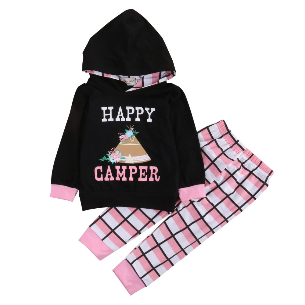 >> Click to Buy << Newborn 2pcs Baby Girl Boy Cotton Hooded Tops + Plaid Long Pants Outfit  Clothes #Affiliate