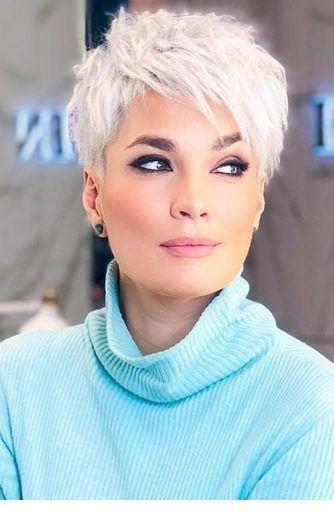 frisyrer kort grått hår