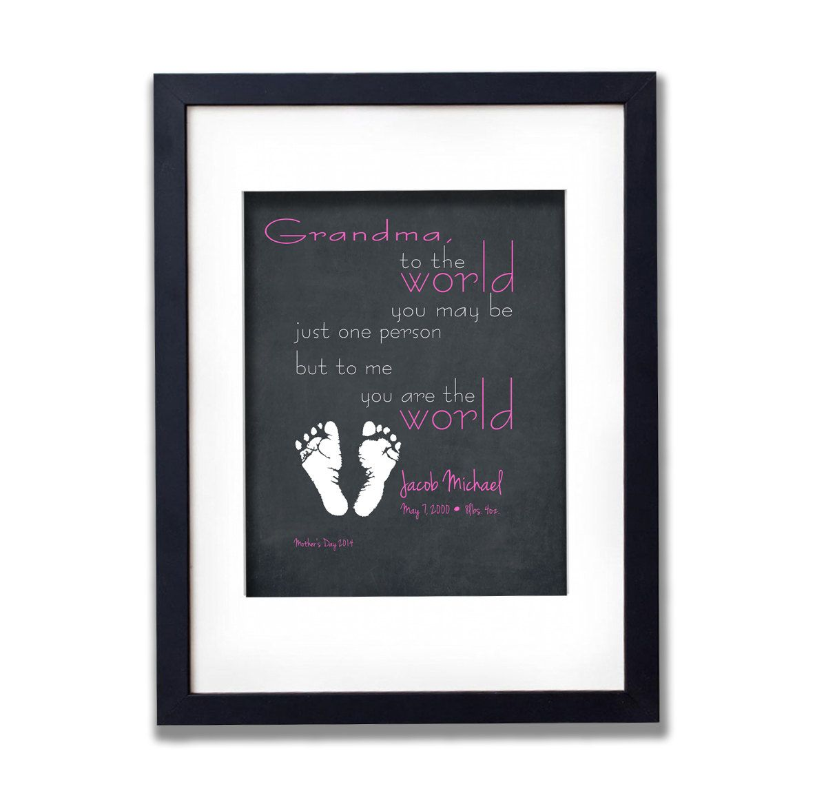 Personalized Birthday Gift For Grandma Baby Name By PrintFusion 2500