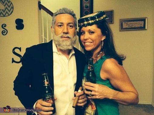 Most Interesting Man and Dos Equis Bottle - Halloween Costume - 4 man halloween costume ideas