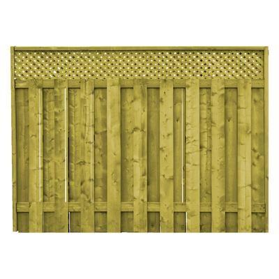 Proguard Treated Wood Lattice Top Fence Panel Fp12110605