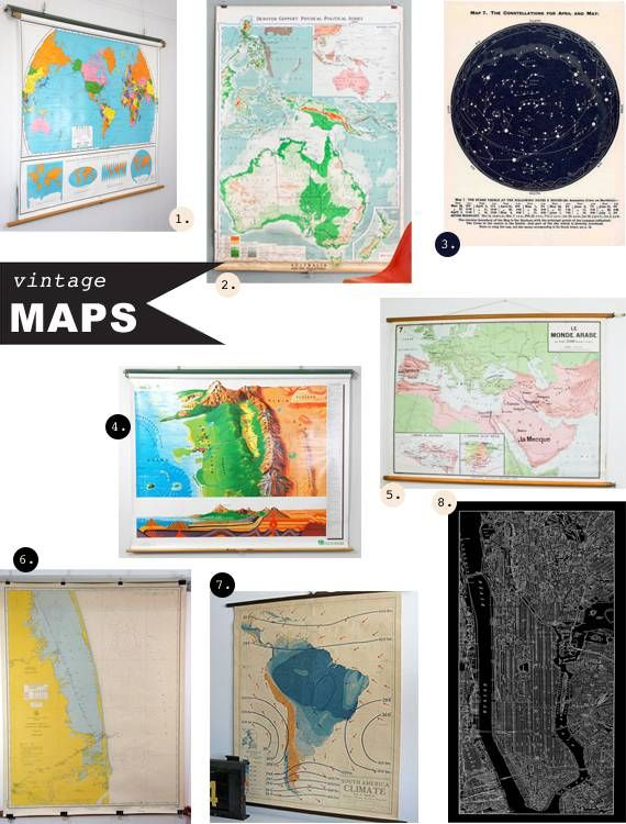 Vintage Maps As Wall Art « Spearmint Baby