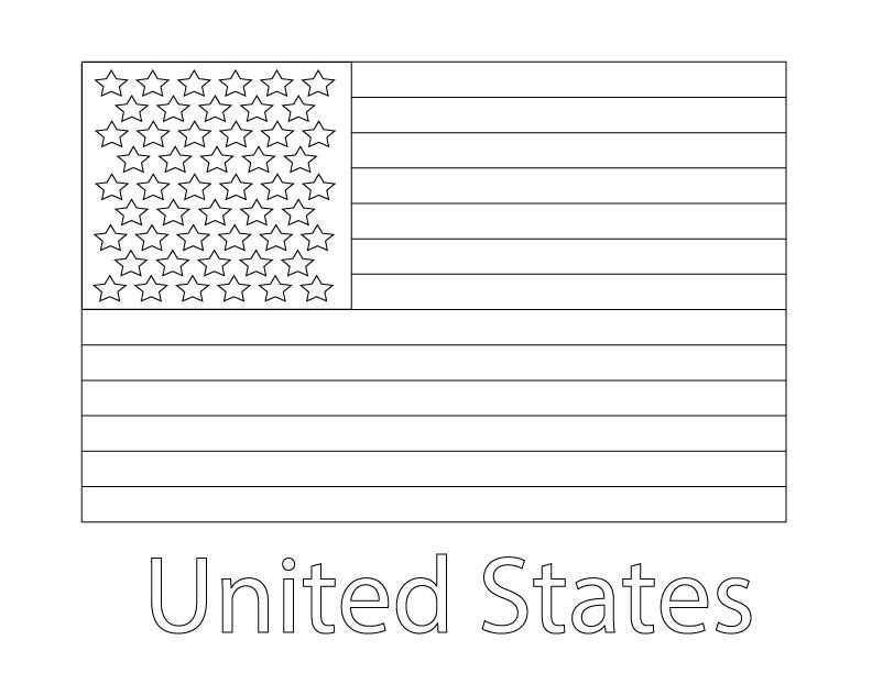 coloring page united states flag coloring and printables