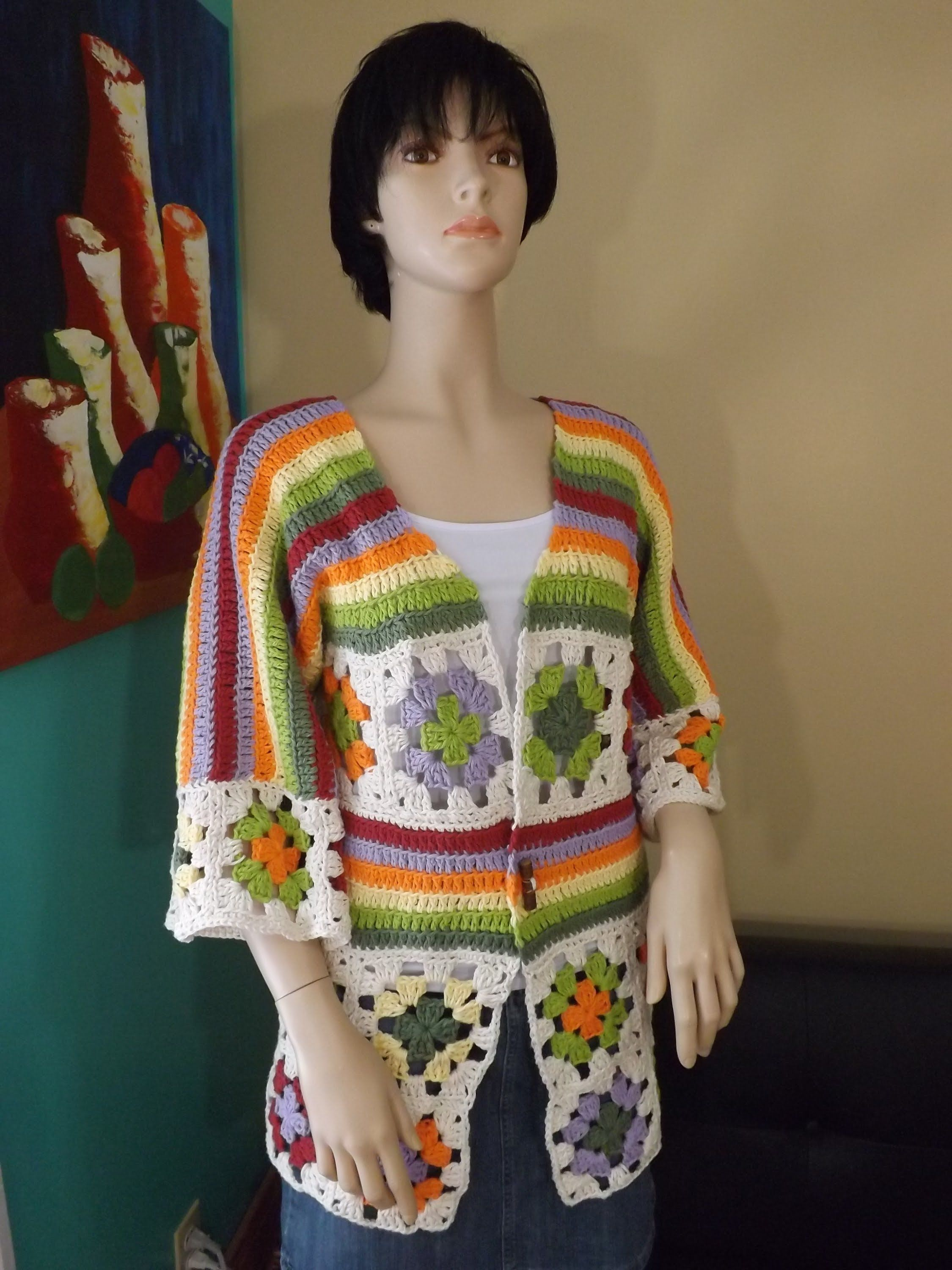 How To Crochet A Granny Square Cardigan Part 1 With Ruby Stedman I Trippy Hippy Afghan Pattern Kingdom Would Wear This If It Was All One Colors