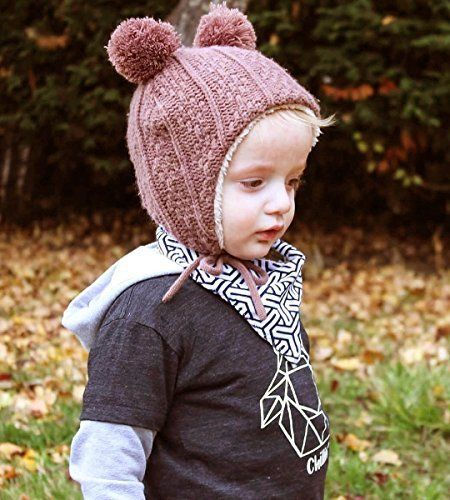 f5f8ac94cc0 Amazon.com  Twinklebelle Baby Toddler Winter Earflap Beanie Hat or Mittens   Clothing