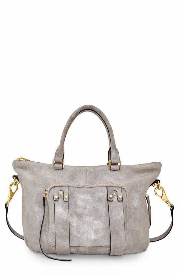 NWOT~She   Lo~Next Chapter Satchel~Cream Metallic~Leather Handbag ...