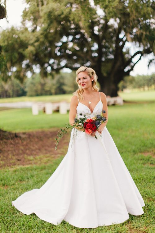 Red, white and blue elegant all-American military wedding ...
