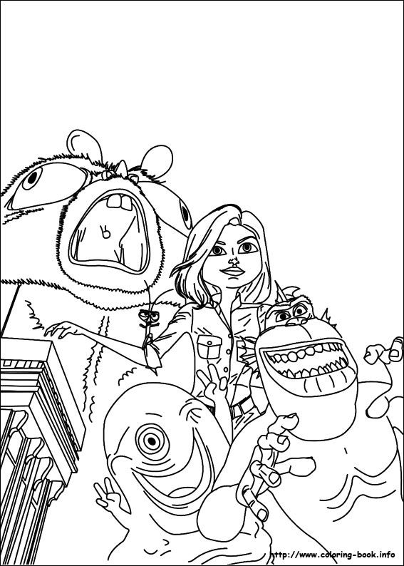 Monsters vs Aliens coloring picture | Coloring and Activities ...