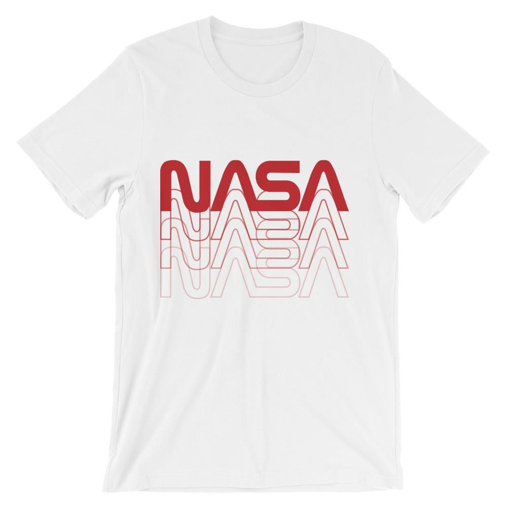 Mens T-Shirt NASA retro logo vintage look space 80/'s