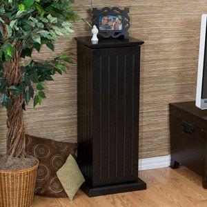 Gretna Media Storage Pedestal Black Media Storage Family Room