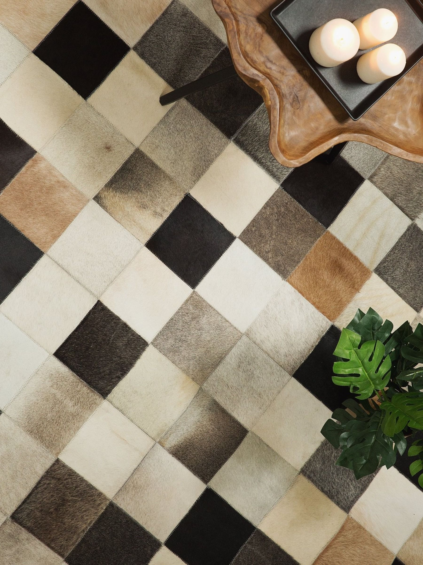 Teppich Leder Braun Beige Grau 200 X 300 Cm Patchwork Soke Mit Bildern Teppich Braun Beige Teppich Braun Braun Beige