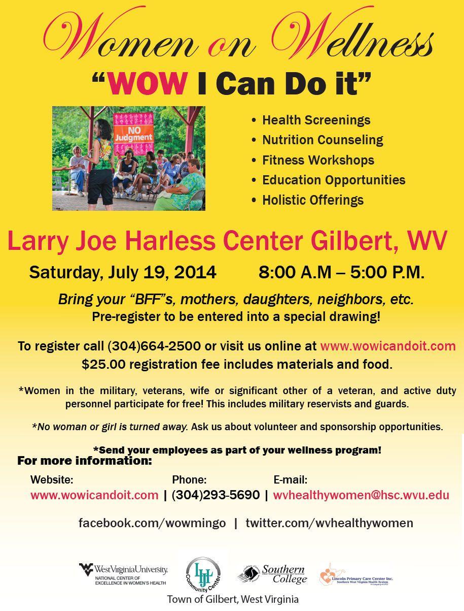 Gilbert wv women on wellness health screening womens