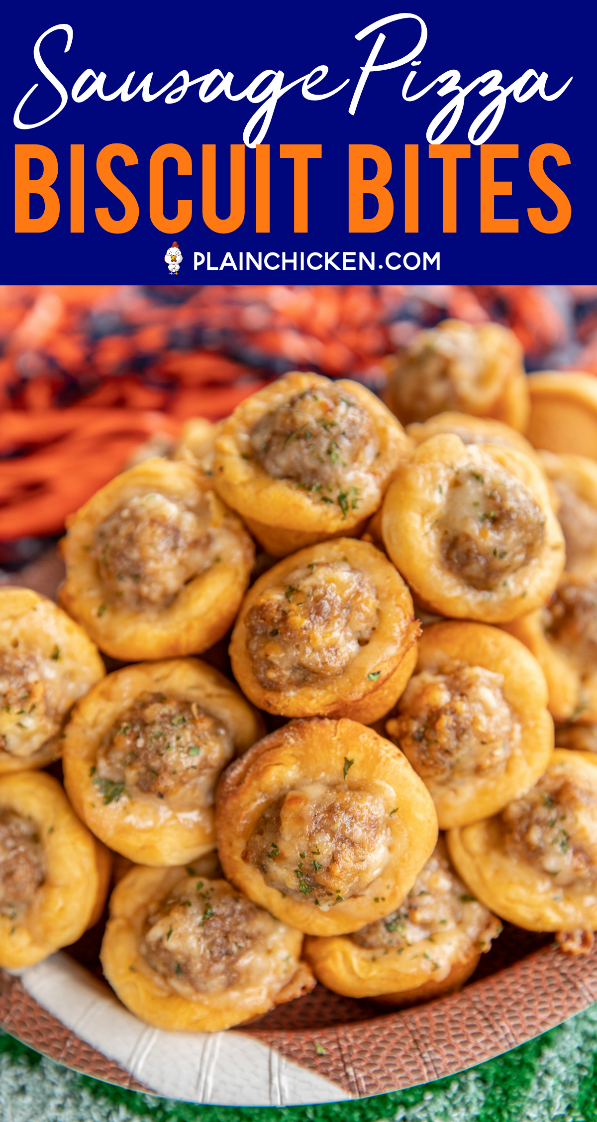 Photo of Sausage Pizza Biscuit Bites – Plain Chicken