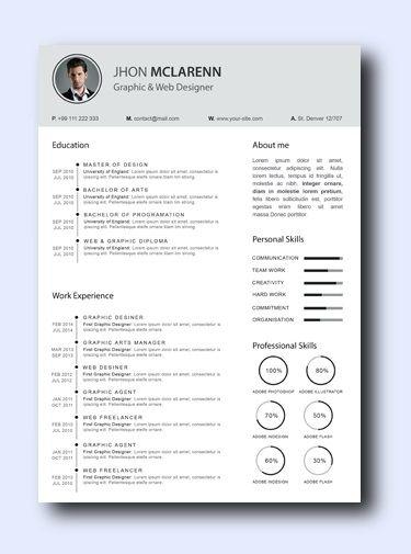 Smoke Gray - Even non-creative jobs can benefit from a modern resume