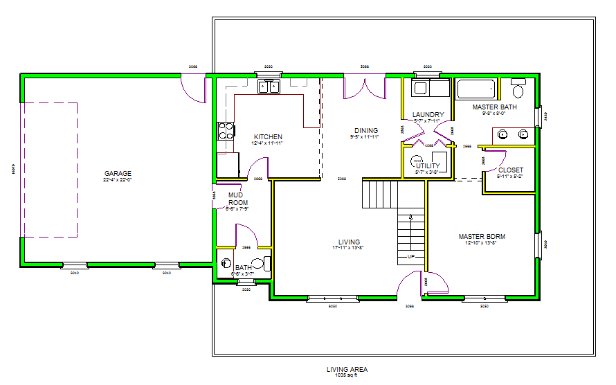 Autocad house floor plan professional drawing home take - House plan drawing apps ...