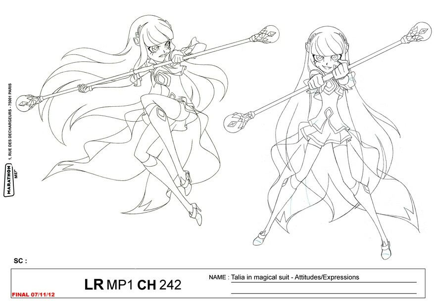 Lolirock Girly Drawings Princess Coloring Pages Sketches