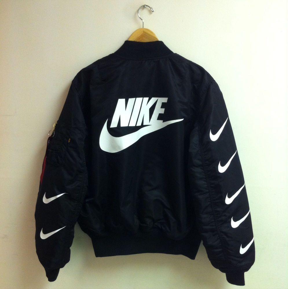 Bomber Jacket Nike Google Search Nike Bomber Jacket Nike Coat Jackets Nike Jacket [ 1000 x 995 Pixel ]