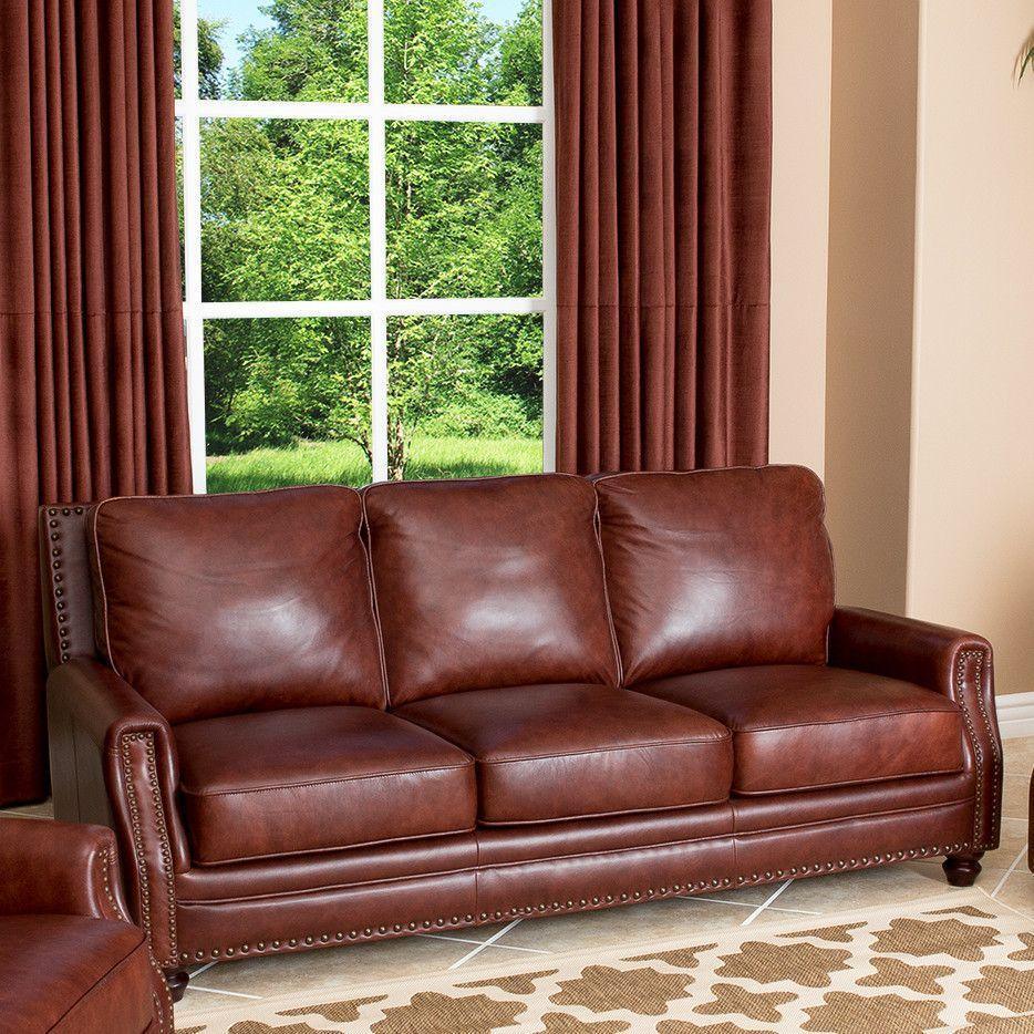 Best Bel Air Leather Sofa Abbyson Living 400 x 300