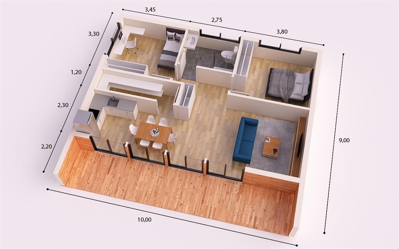 cordoba donacasa 90m2 casas de paneles prefabricados con