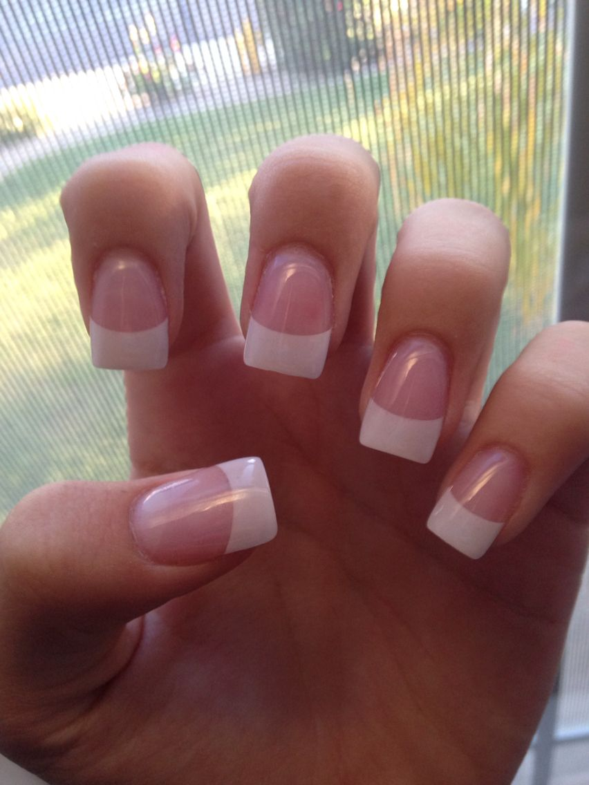 So Basic So Classy I Used To Wear My Nails This Way Everyday French Tip Acrylic Nails Square Acrylic Nails French Acrylic Nails
