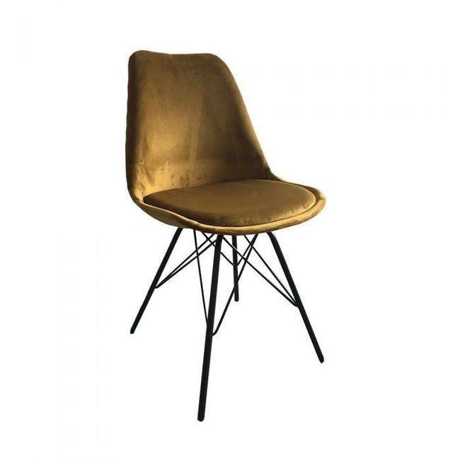 Kick Collection Bucket Chair Velvet - Guld - Kick ...