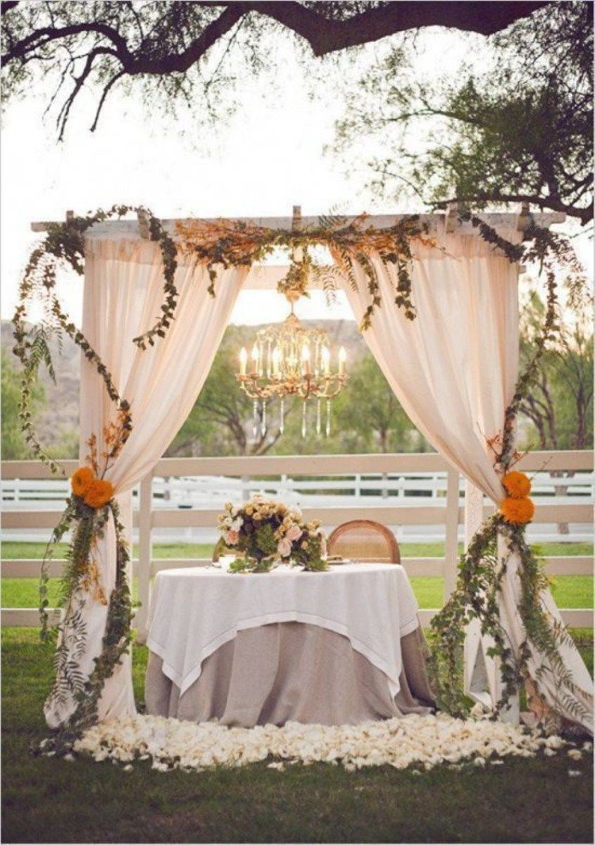 Outdoor garden wedding decoration ideas  Budgetfriendly outdoor wedding ideas for fall   Weddings and