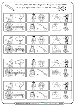 Crear Frases ñ Letra N Letras Pauta Montessori