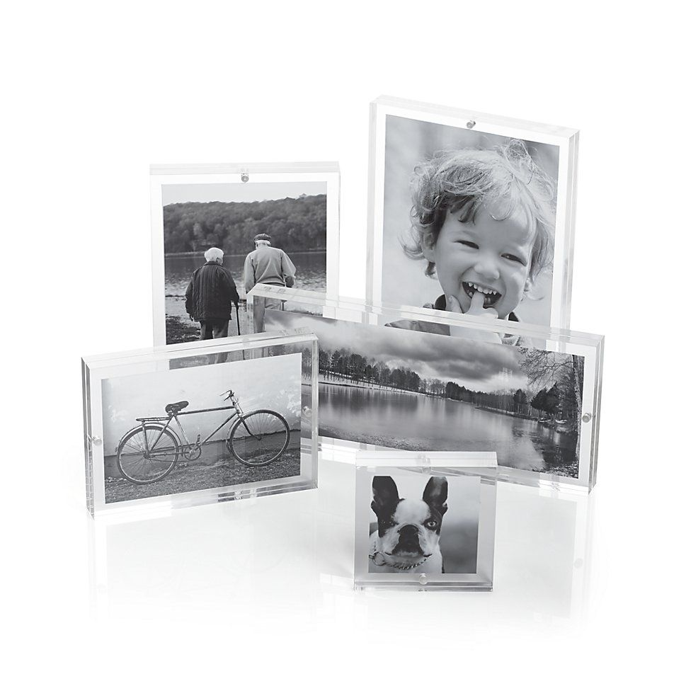 Crate And Barrel Wedding Gifts: Acrylic Block Picture Frames