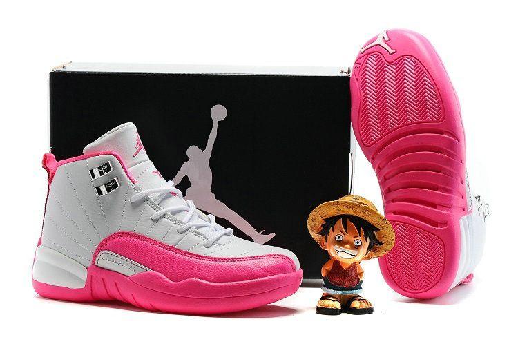6534fc7eeaf Kids Boys Air jordan 12 XII Valentines Day Pink White   I'm yours ...