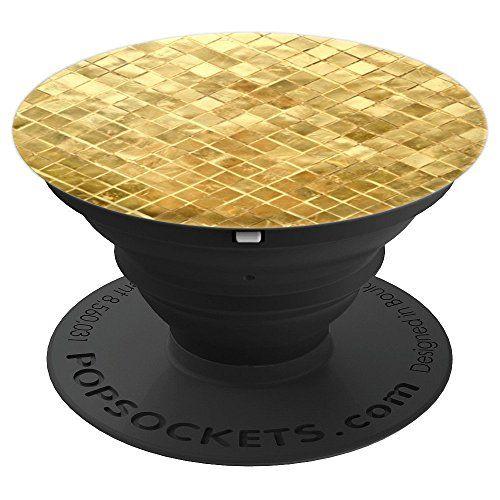 Woven Gold Elegance Popsocket Grip Popsockets Grip And
