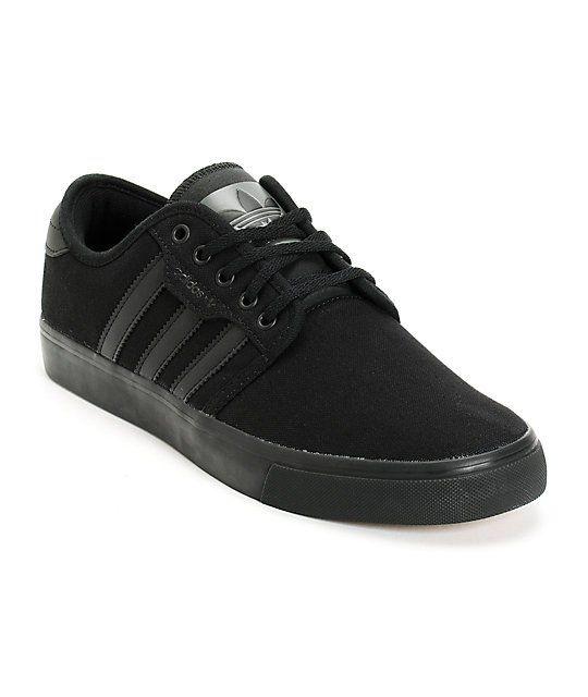 Black canvas shoes