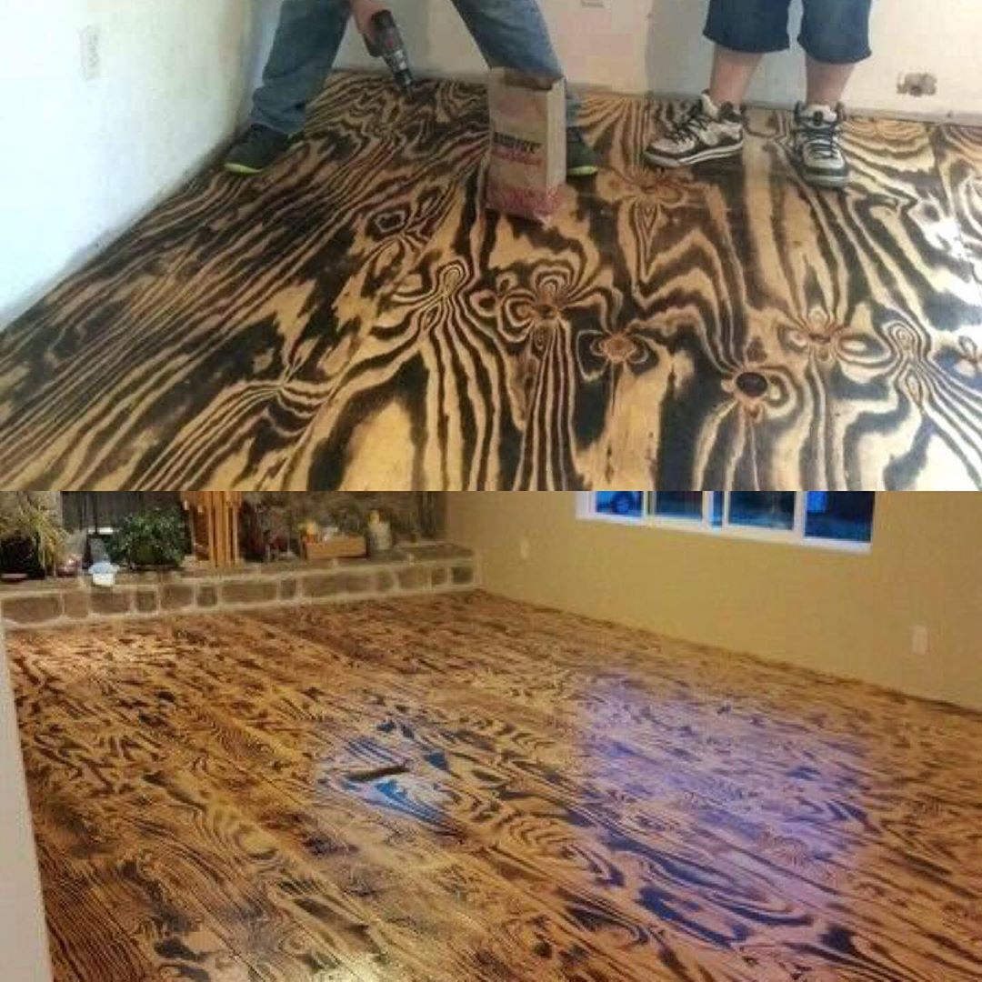 Yay 😍 or Nay 😡 Burned plywood flooring... what do you