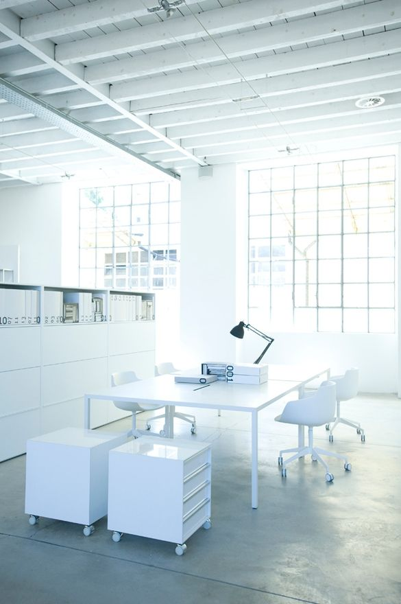 workspace that is whiteIm not sure Id feel very creative in an
