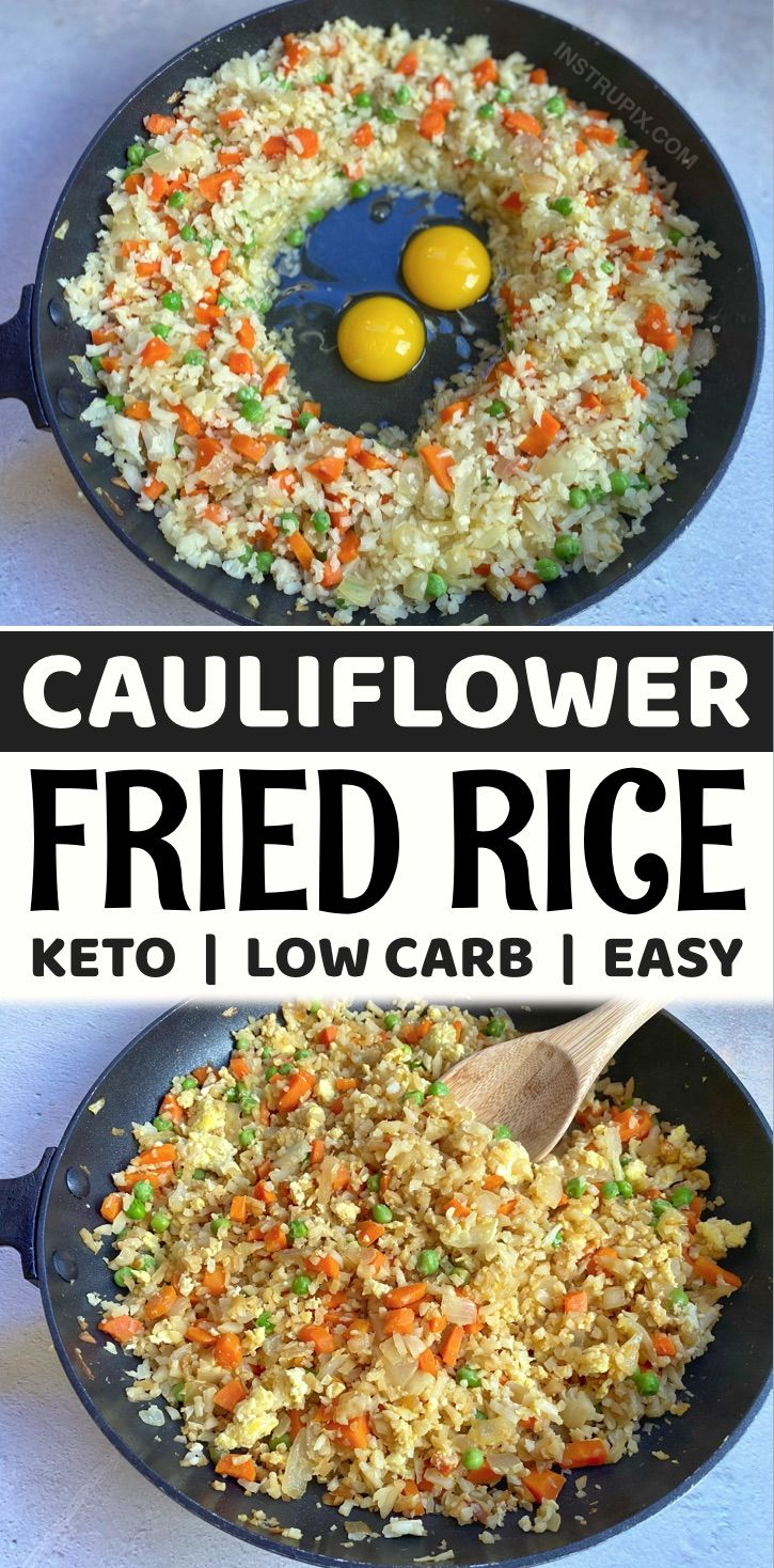 Cauliflower Fried Rice (A Quick & Easy Keto Dinner