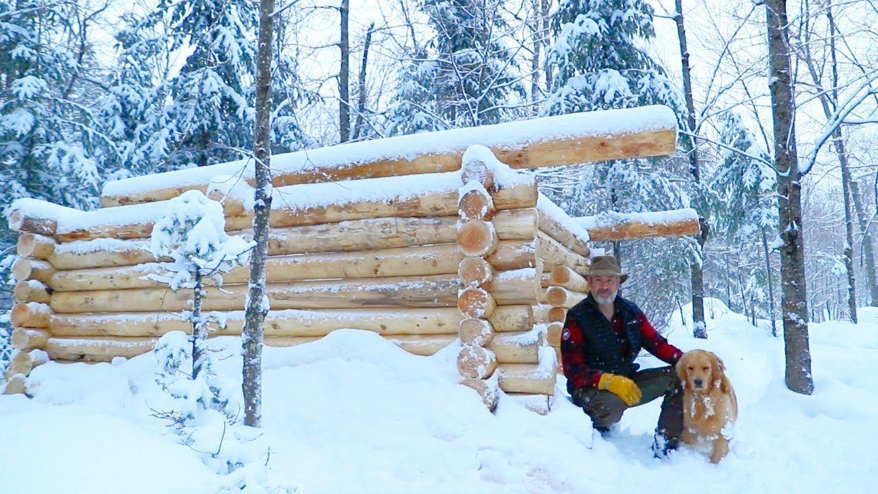 Log Cabin Sauna Build, Ep. 13 Finished Walls Duck
