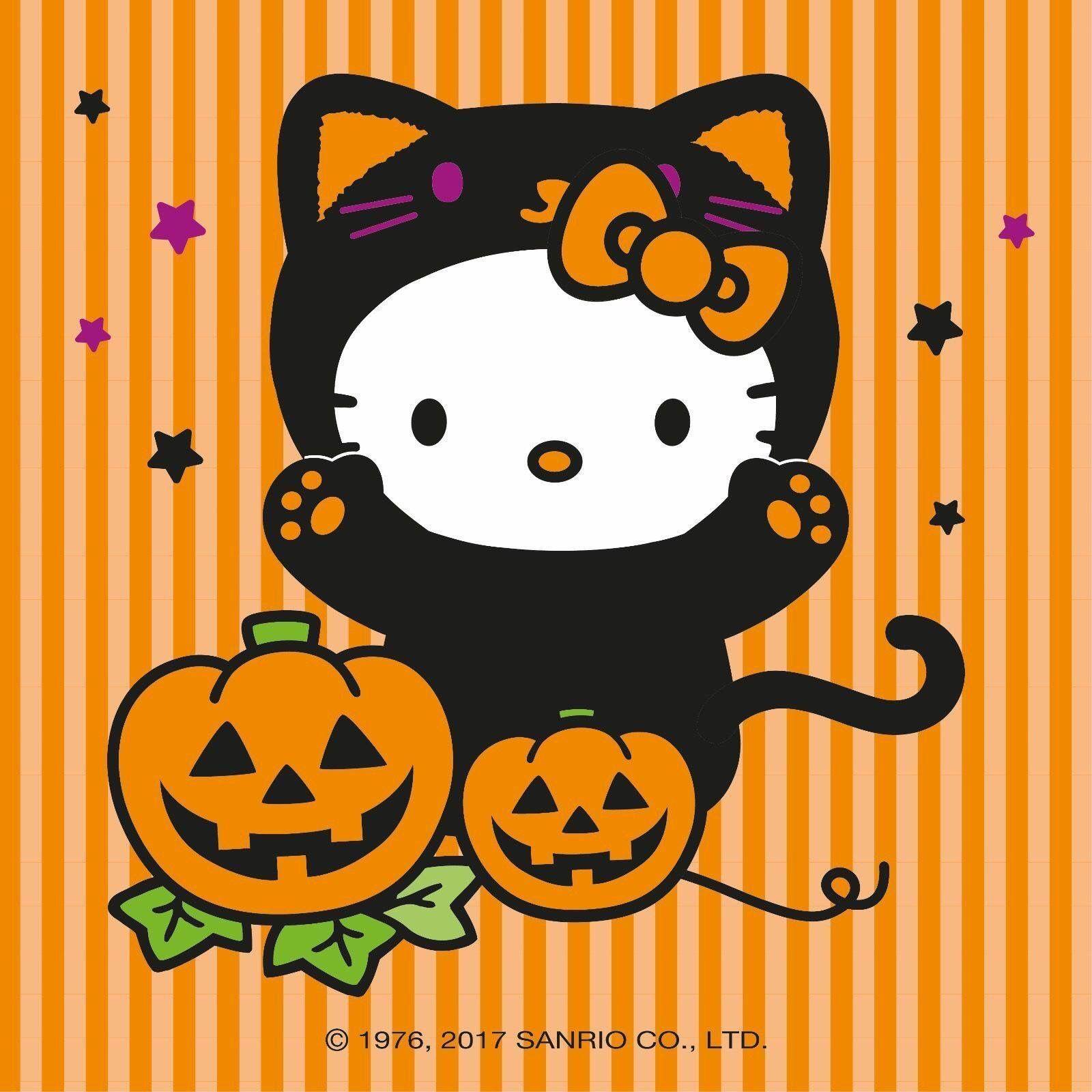 Happy Halloween Hellokitty Hello Kitty Halloween Hello Kitty Crafts Hello Kitty Wallpaper
