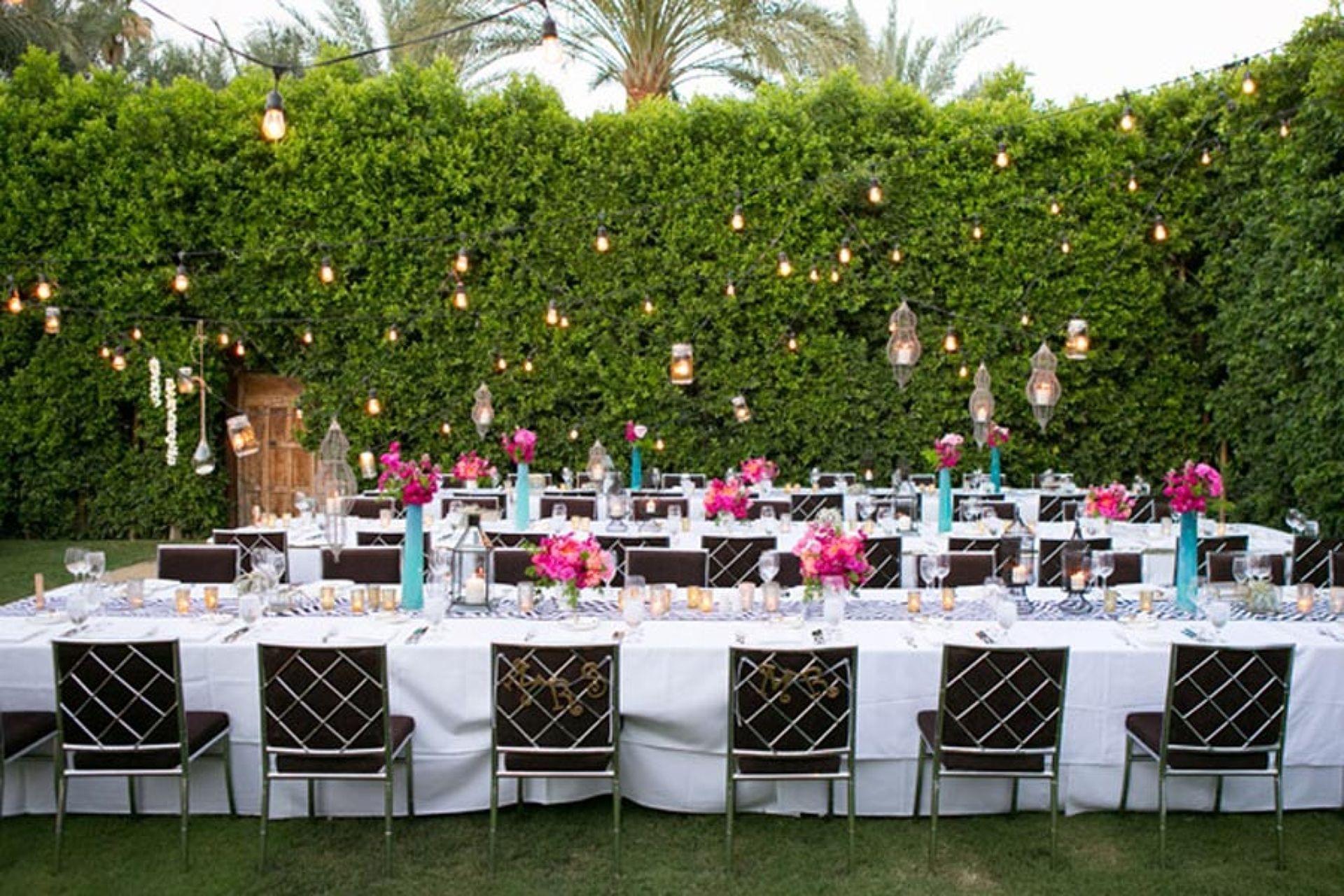 Bold Pink & Gold Palm Springs Celebration | Palm Springs, CA