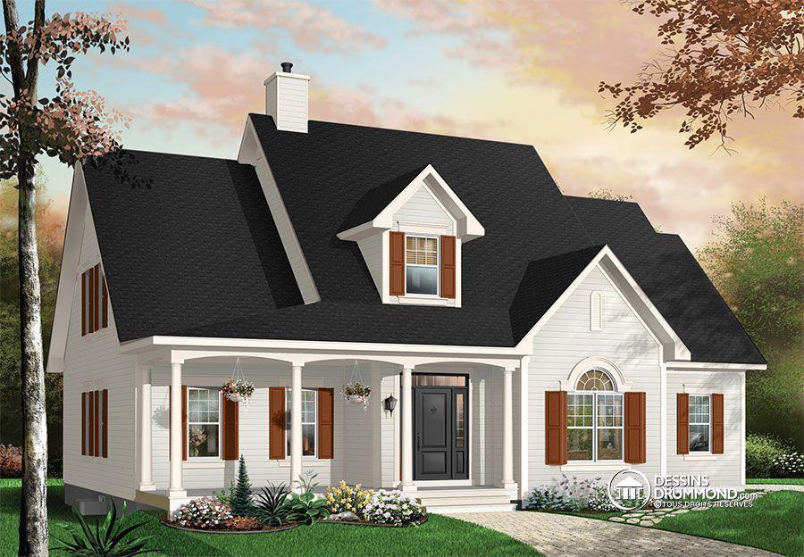 d tail du plan de maison unifamiliale w2637 plans de. Black Bedroom Furniture Sets. Home Design Ideas