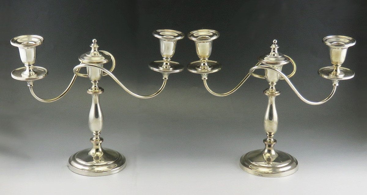 Vintage Silver Plated Candlestick Holder Classic Style Candle Holder Tall Candle Holder