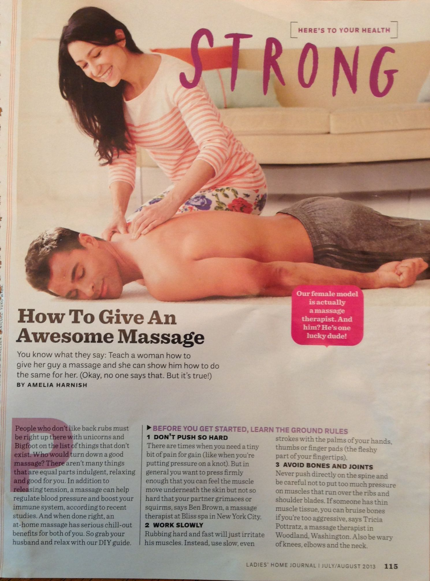 how to give her a good massage