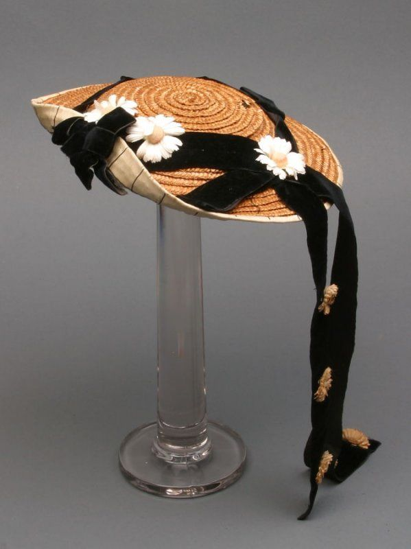 Child's Straw hat, ca. 1868, 19th century, US